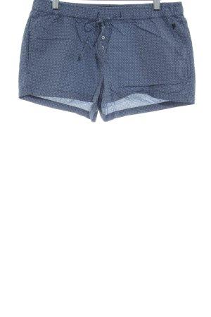Marc O'Polo Shorts blu-bianco motivo grafico stile casual