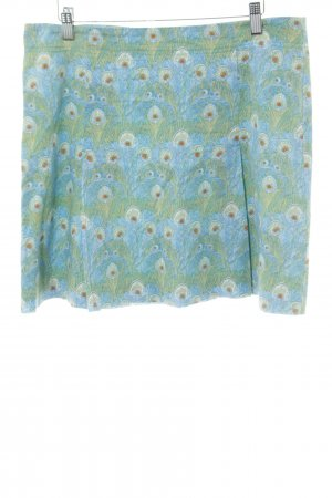 Marc O'Polo Skater Skirt turquoise-green abstract pattern casual look