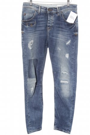 Marc O'Polo Skinny Jeans blau Destroy-Optik