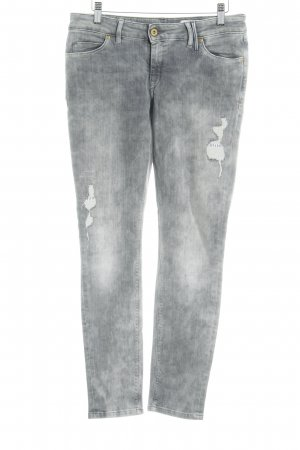 Marc O'Polo Skinny Jeans grau Destroy-Optik