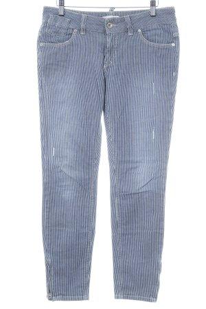 Marc O'Polo Skinny Jeans stahlblau-weiß Streifenmuster Casual-Look
