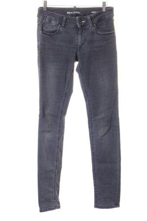Marc O'Polo Slim Jeans dunkelgrau-wollweiß Washed-Optik
