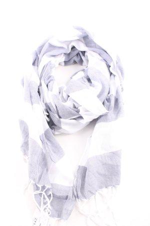 Marc O'Polo Chal veraniego blanco-gris claro estampado a rayas look casual