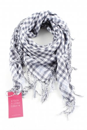 Marc O'Polo Summer Scarf white-blue check pattern casual look