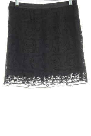 Marc O'Polo Jupe en dentelle noir motif floral style décontracté