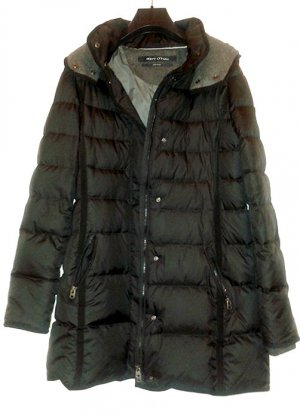 Marc O'Polo Down Coat black-grey polyester