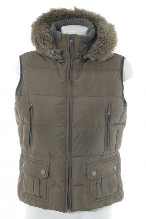 Marc O'Polo Quilted Gilet green grey-dark blue quilting pattern casual look