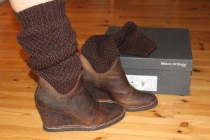 Marc O'Polo Stiefel Gr. 40 Braun Knit Edel