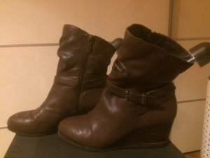 Marc O'Polo Stiefel mit Keilabsatz brown