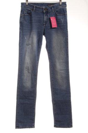 Marc O'Polo Straight-Leg Jeans blau-graublau Webmuster Casual-Look