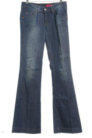 Marc O'Polo Straight-Leg Jeans blau Washed-Optik