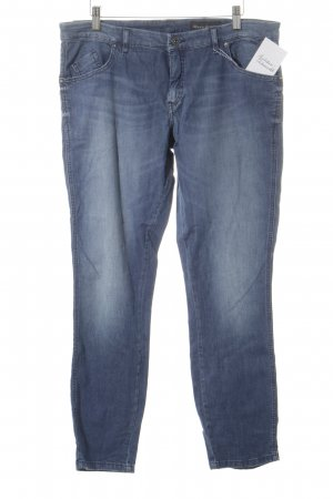 Marc O'Polo Straight-Leg Jeans blau-wollweiß Washed-Optik