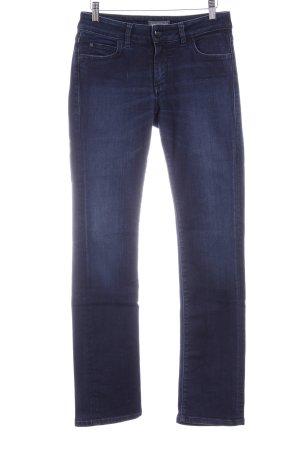 Marc O'Polo Straight-Leg Jeans dunkelblau Metallelemente