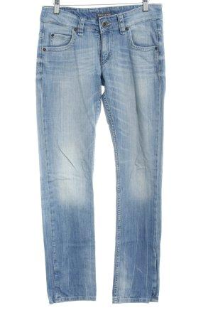 Marc O'Polo Straight-Leg Jeans himmelblau meliert Casual-Look