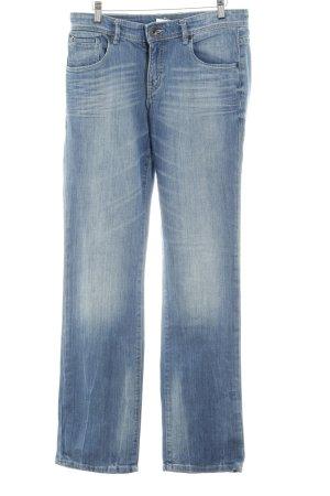 Marc O'Polo Straight-Leg Jeans kornblumenblau Washed-Optik