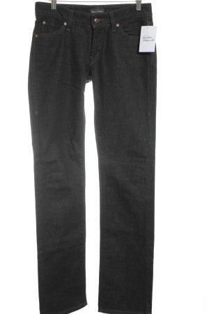 Marc O'Polo Straight-Leg Jeans schwarz Casual-Look