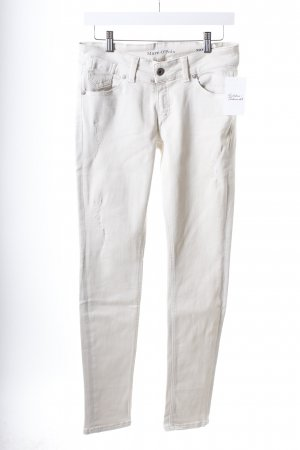 Marc O'Polo Stretch Jeans creme Destroy-Optik