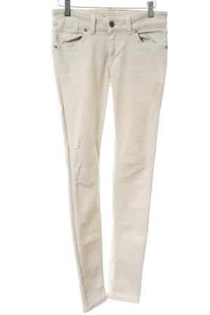 Marc O'Polo Pantalon strech crème style décontracté