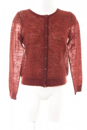 Marc O'Polo Strick Cardigan rot meliert Casual-Look