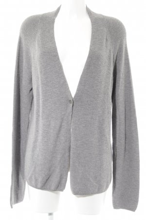 Marc O'Polo Strick Cardigan hellgrau Casual-Look