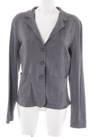 Marc O'Polo Strickblazer grau meliert Casual-Look