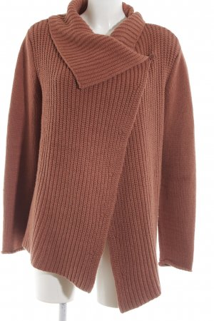 Marc O'Polo Strickjacke braun Webmuster Casual-Look