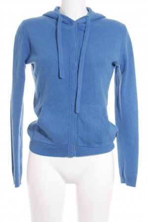 Marc O'Polo Strickjacke blau-dunkelgrau Kuschel-Optik