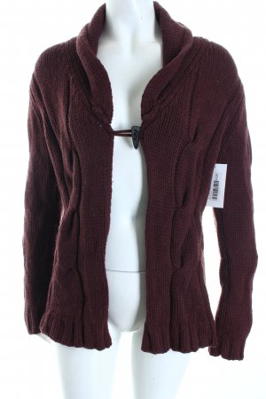 Marc O'Polo Strickjacke bordeauxrot Casual-Look