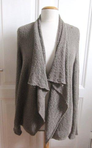 MARC O'POLO Strickjacke  Cardigan Gr.XL Khaki Beige Grau Baumwolle BoHo