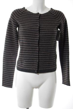 Marc O'Polo Cardigan dark grey-green grey striped pattern country style