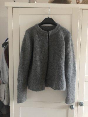 Marc O'Polo Strickjacke grau Wolle M 38