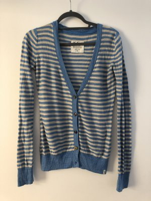 Marc O'Polo Strickjacke hellblau gestreift S 38