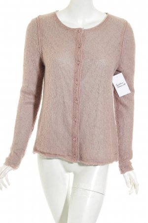 Marc O'Polo Strickjacke hellgrau-altrosa Casual-Look