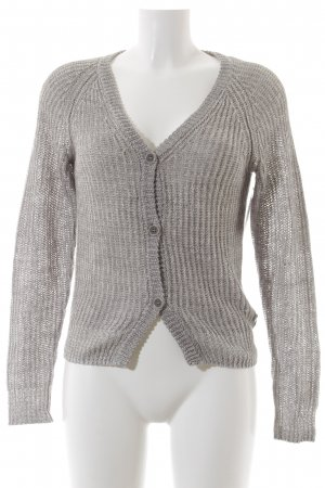 Marc O'Polo Strickjacke hellgrau Casual-Look