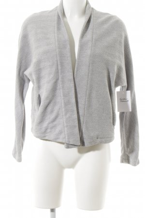 Marc O'Polo Strickjacke hellgrau Webmuster Casual-Look