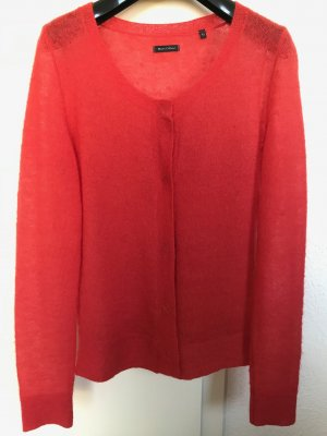 Marc O'Polo Strickjacke, orange, mit Mohair