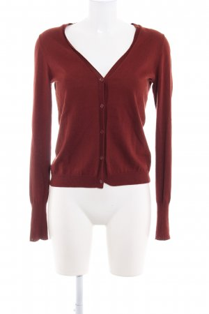 Marc O'Polo Strickjacke rostrot Casual-Look