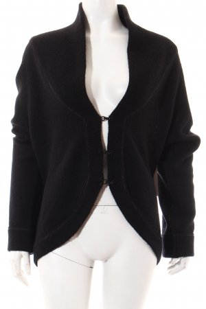 Marc O'Polo Strickjacke schwarz-braun Casual-Look