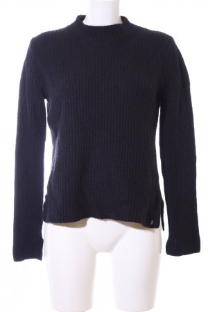 Marc O'Polo Strickpullover schwarz Zopfmuster Casual-Look