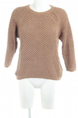 Marc O'Polo Strickpullover apricot Lochstrickmuster Casual-Look