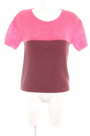 Marc O'Polo Strickpullover brombeerrot-magenta Colourblocking Casual-Look
