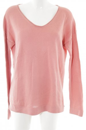 Marc O'Polo Strickpullover pink Zopfmuster Casual-Look