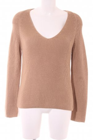 Marc O'Polo Strickpullover camel Zopfmuster Casual-Look