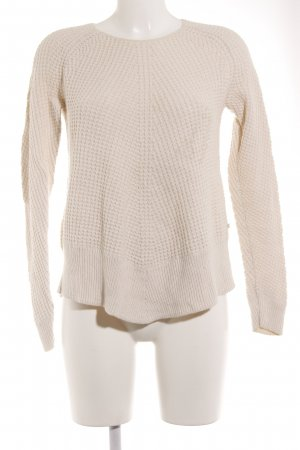 Marc O'Polo Strickpullover creme Lochstrickmuster Casual-Look