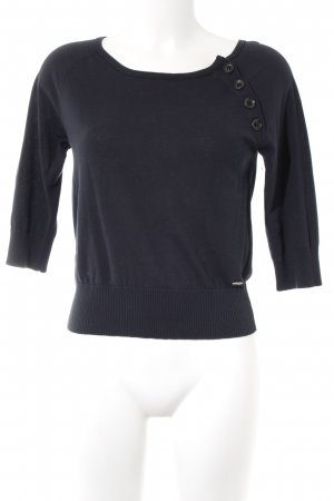 Marc O'Polo Strickpullover dunkelblau Casual-Look