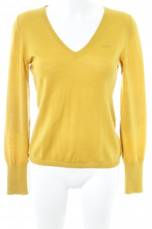Marc O'Polo Strickpullover dunkelgelb Casual-Look