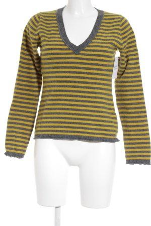 Marc O'Polo Strickpullover grau-gelb Streifenmuster Casual-Look