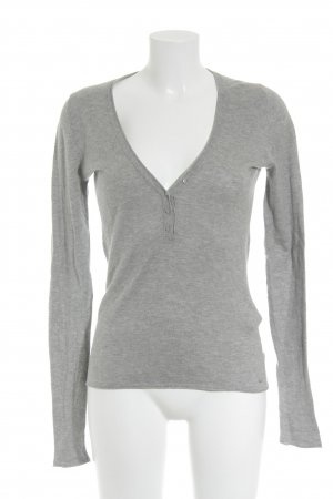 Marc O'Polo Strickpullover grau meliert Casual-Look