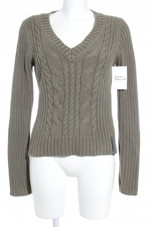 Marc O'Polo Strickpullover grüngrau Casual-Look
