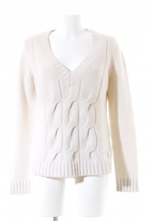 Marc O'Polo Strickpullover hellbeige Casual-Look
